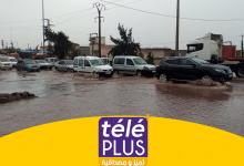 صورة شوارع وقطارات خارج الخدمة بسبب التساقطات المطرية